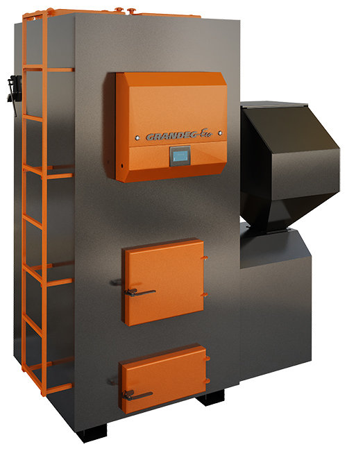 ECO specialized pellet heating boiler; 200, 300 kW.
