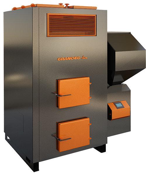 AIRO 100 kW siltā gaisa granulu apkures katls ar jaudas diapazonu: 30 - 100 kW