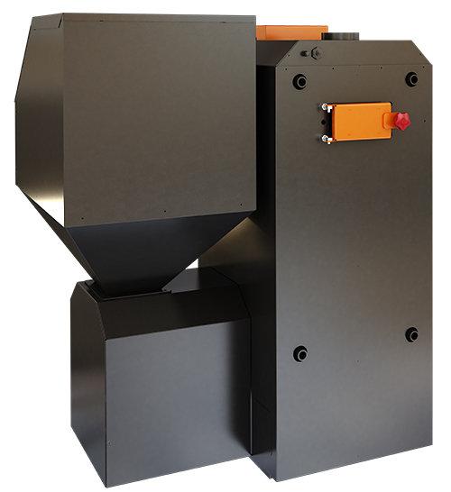 BIO 40 kW granulu / malkas apkures katls ar jaudas diapazonu: 10 - 40 kW