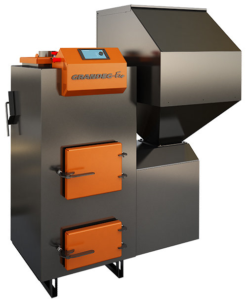 ECO 40 kW granulu apkures katls ar jaudas diapazonu: 10 - 40 kW