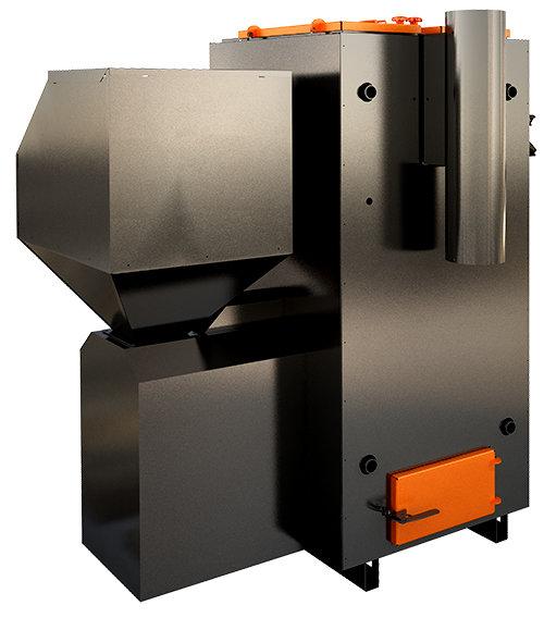 ECO 100 kW granulu apkures katls ar jaudas diapazonu: 30 - 100 kW