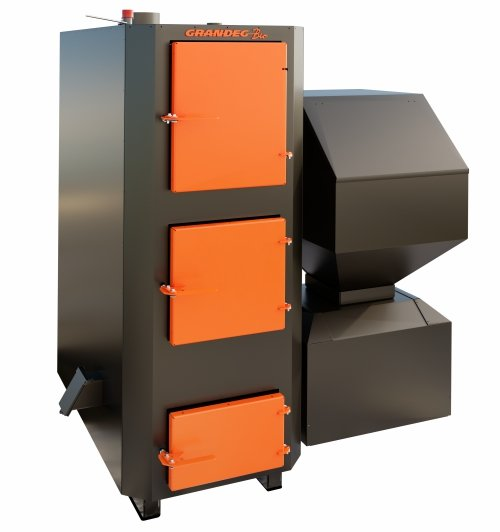 BIO 100 kW granulu / malkas apkures katls ar jaudas diapazonu: 30 - 100 kW